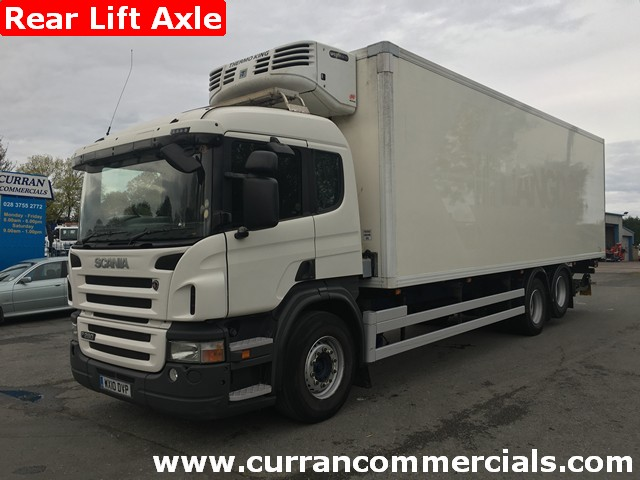 2010 Scania P280 6X2 26 ton rear lift axle 30ft Fridge Freezer + Tail Lift